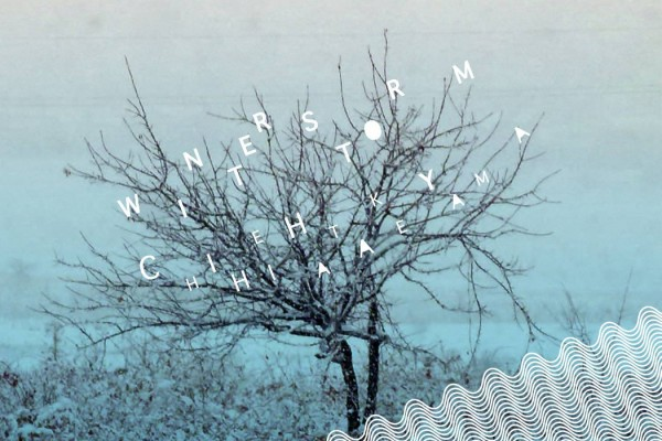 Chihei Hatakeyama Winter Storm tree with no leaves against snowy blue background