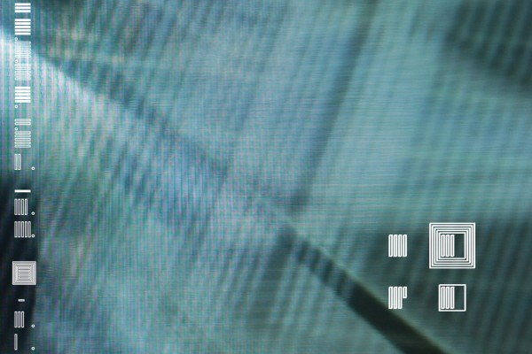 Lviv - Transmission, abstract blue projected background with white square symbols