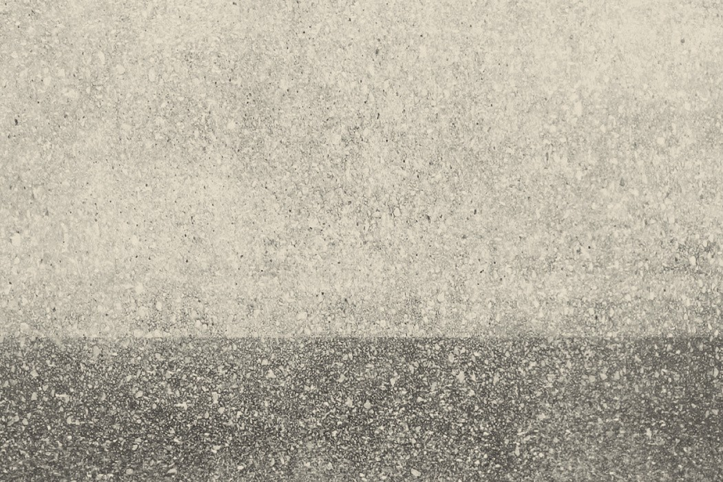 Rutger Zuydervelt - Sneeustorm, abstract two-tone grey evoking a landscape blurred by snowflakes