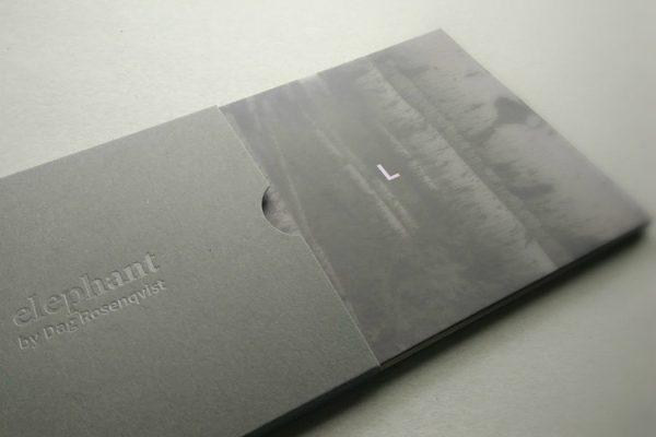 Dag Rosenqvist - elephant, photo of grey CD sleeve on a white background