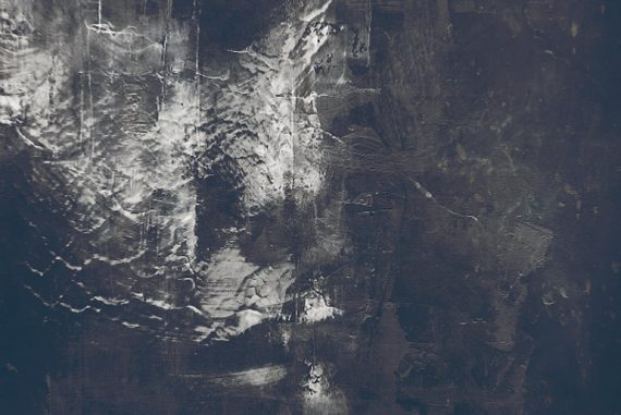 René Aquarius - Blight, dark textured image that may be a face