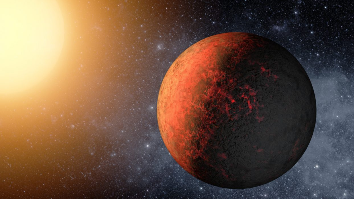 An artist's conception of planet Kepler 20e very close to its star Kepler 20