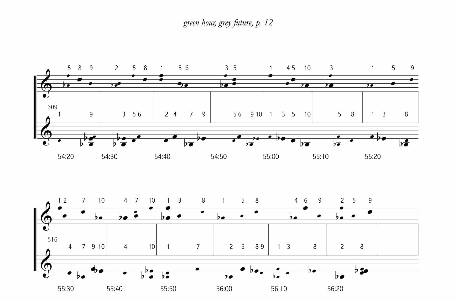 Michael Pisaro - excerpt from green hour, grey future score
