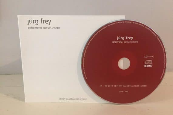 Jürg Frey - ephemeral constructions, white Wandelweiser CD cover and maroon CD