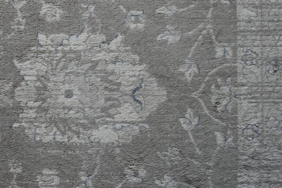 Yann Novak - The Future is a Forward Escape into the Past, grey embroidered carpet