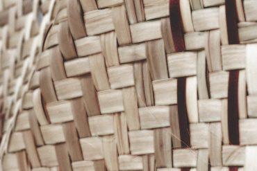 Cristián Alvear and Santiago Astaburuaga - capas de un tapiz, closeup of a woven basket, image by Tatiana Wolf.