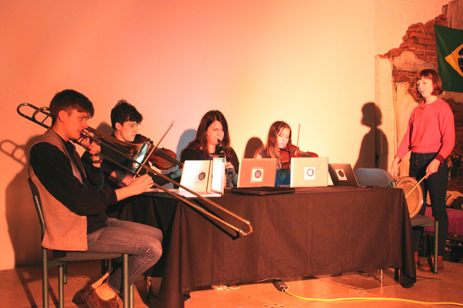 Floodtide performed at Network Music Festival 2014, MA_Ensemble with trombone, viola, clarinet, violin and drum