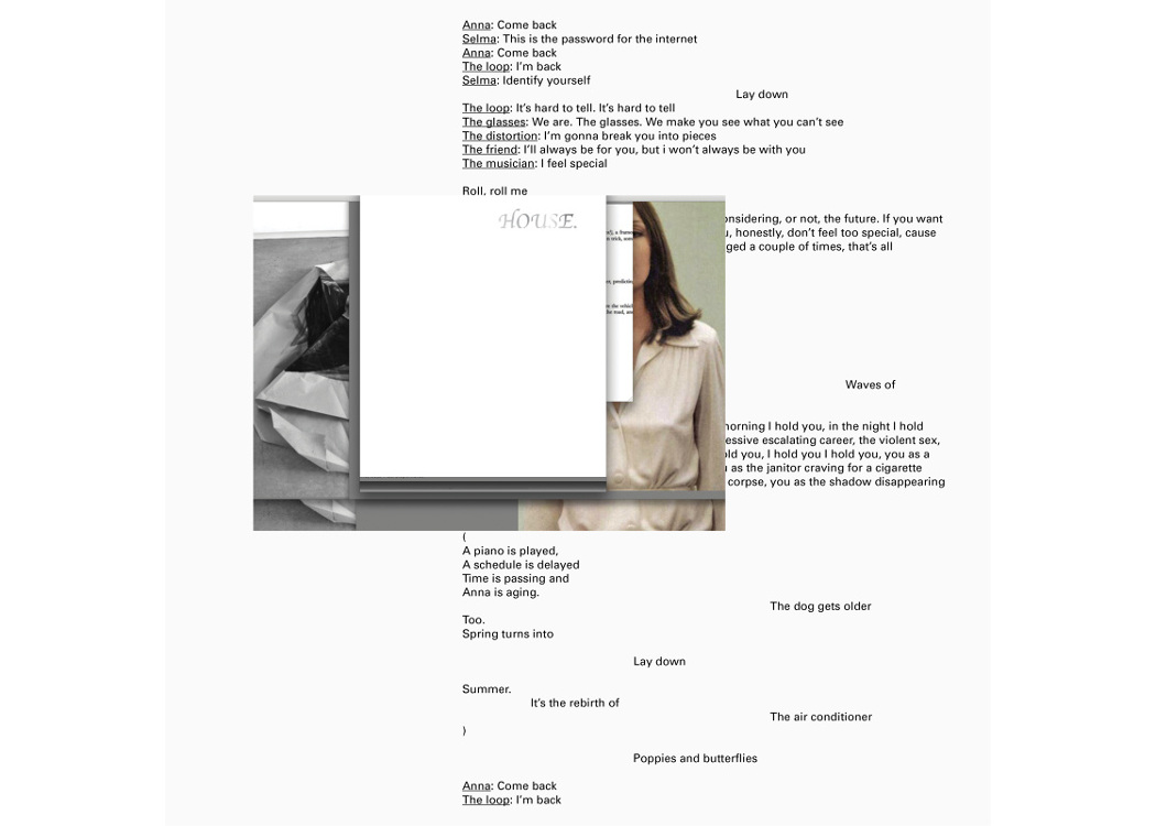 Félicia Atkinson - A Readymade Ceremony, collage of text and photos on white background