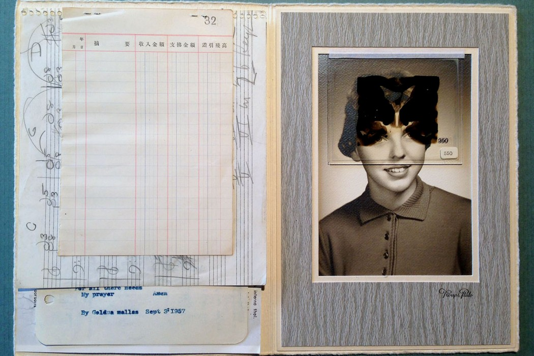Sonmi451 - The Limbic System, handwritten medical records with inked-over photograph of patient