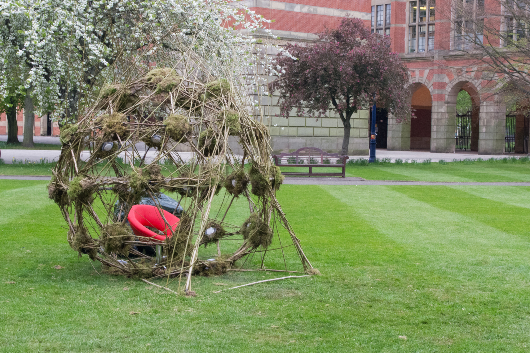 Peter Batchelor + Ian Bilson - Beyond, dome installation on lawn