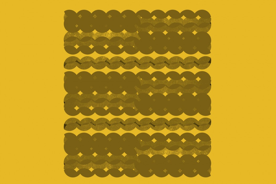 diatribes - Great stone / Blood dunza, abstract circles on a bright yellow background