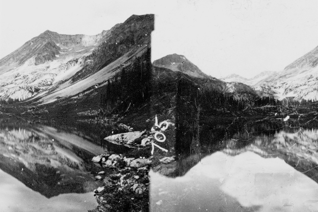 Kassel Jaeger, Stephan Mathieu, Akira Rabelais - Zauberberg, collage of two black and white alpine mountains