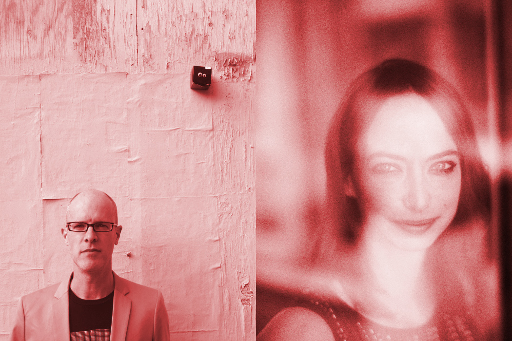 Pinkcourtesyphone + Gwyneth Wentink - Elision, press images of the two artists in pink