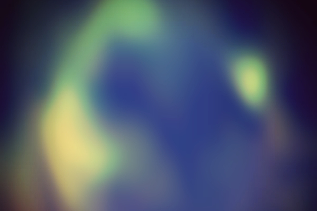 Awakener - The noises within, blurry purple and green shape