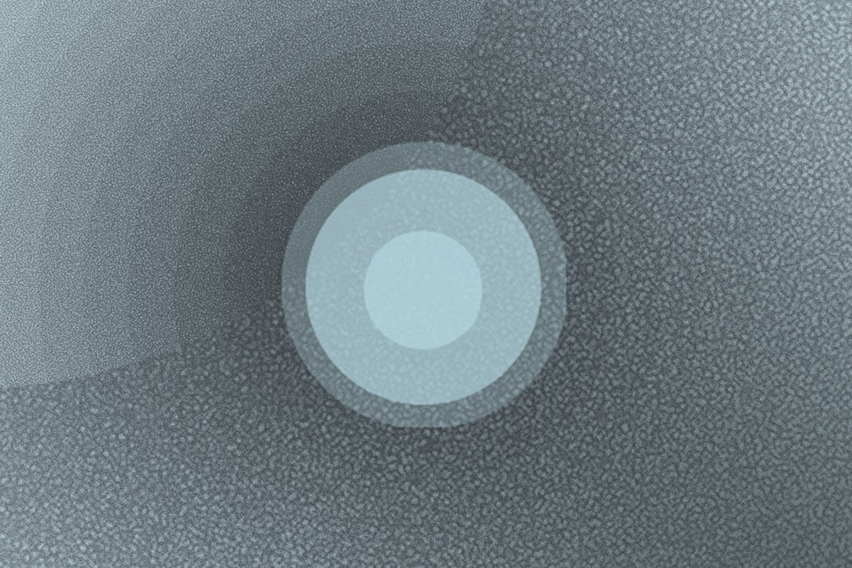 Francesco Giannico and Giulio Aldinucci - Agoraphonia, concentric blue circles of different shades