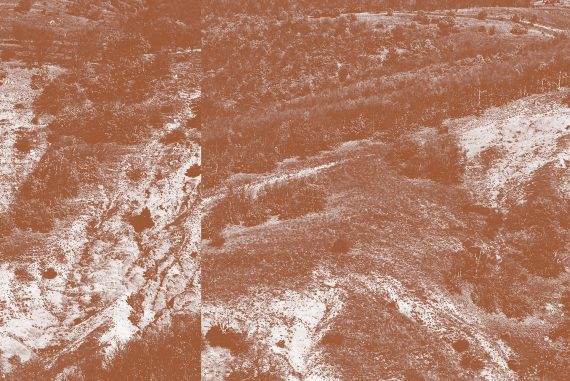 John Chantler - Which Way To Leave?, photos of dry ravines from high above
