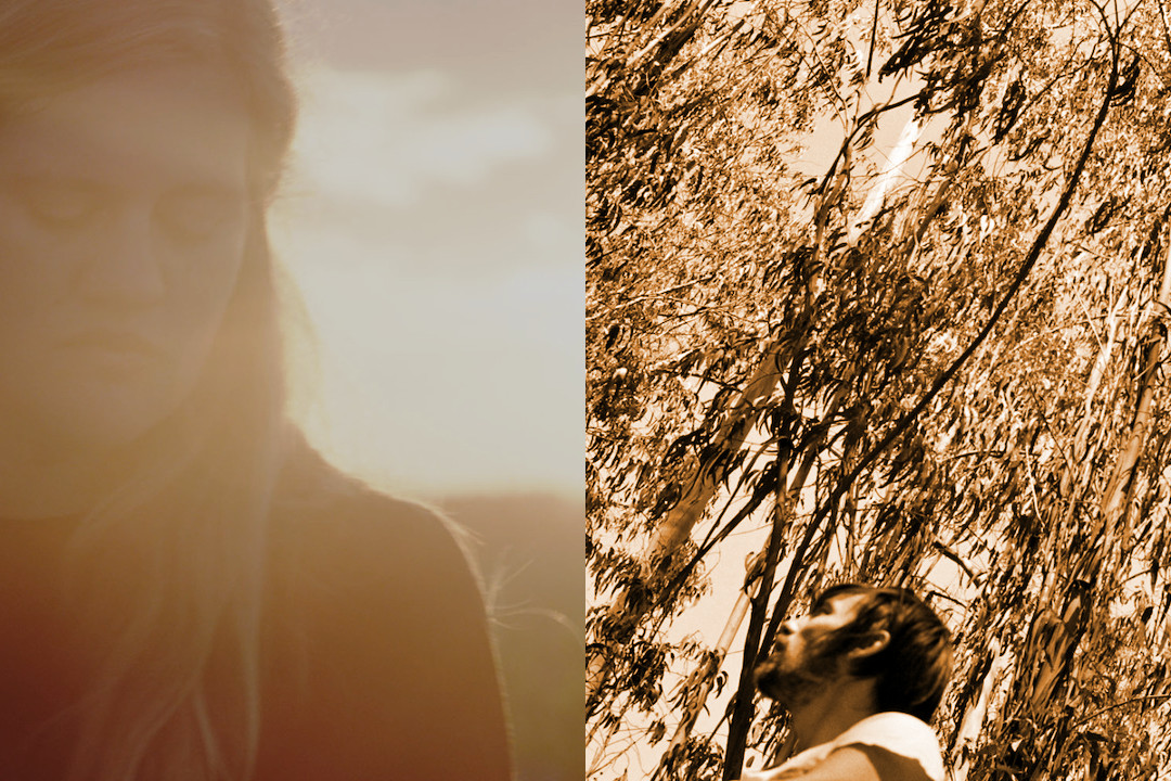 Mary Lattimore and Maxwell August Croy - Terelan Canyon, Lattimore on a hill and Croy in a forest
