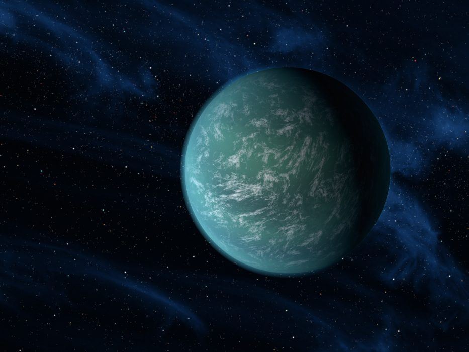 An artist's conception of the planet Kepler 22b, the second planet from the star Kepler 22