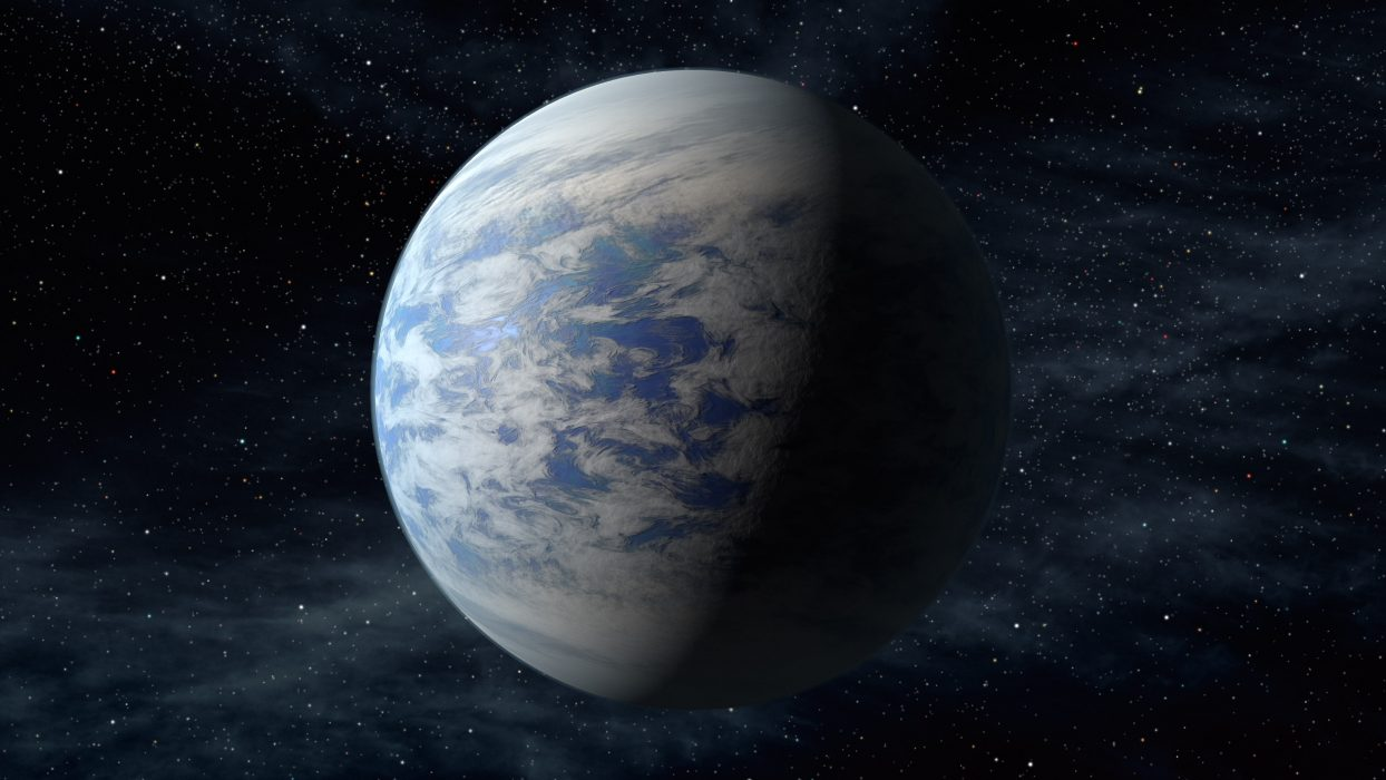 An artist's conception of Kepler 69c, the third planet from the star Kepler 69