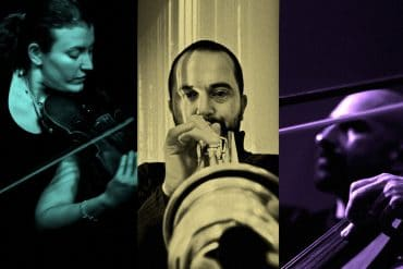 Cremaschi, Kepl, Vrba - Resonators, portraits of the three artists performing their instruments