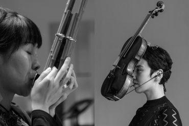 Cage Two4, Naomi Sato playing sh? and Aisha Orazbayeva with violin