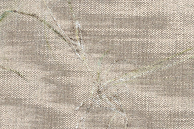 Piiptsjilling - Fiif, abstract grey painting by Mariska Baars