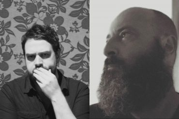 Francisco Meirino + Bruno Duplant - Dedans / Dehors, portraits of the two artists in black and white.